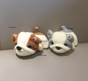 2Colors - NEW DOG Plush Stuffed TOY Animal DOLL , 11CM Dog Figure DOLL Keychain Plush TOY(China)