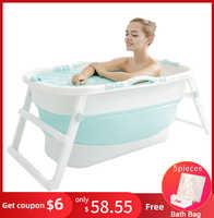 Bañera de plástico plegable para adultos, Cubo de baño grueso, bañera plegable para bebés, aislamiento de baño, diseño ergonómico