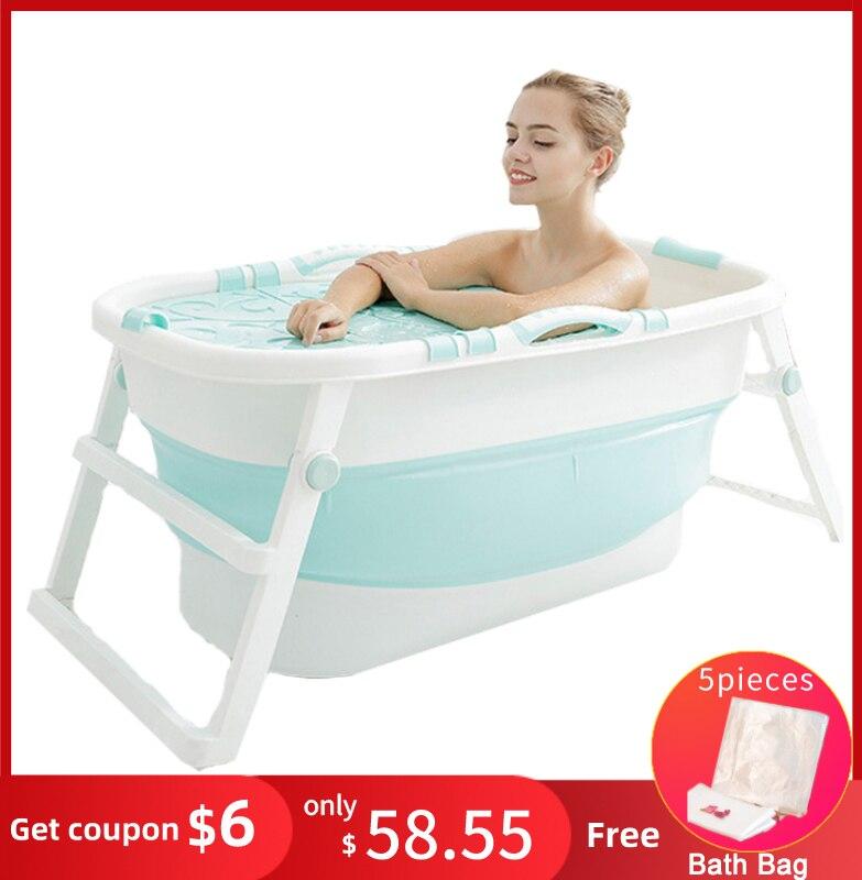 Baignoire adulte pliable baignoire en plastique épaissi seau de bain baignoire pliante bébé bain de natation isolation Design ergonomique