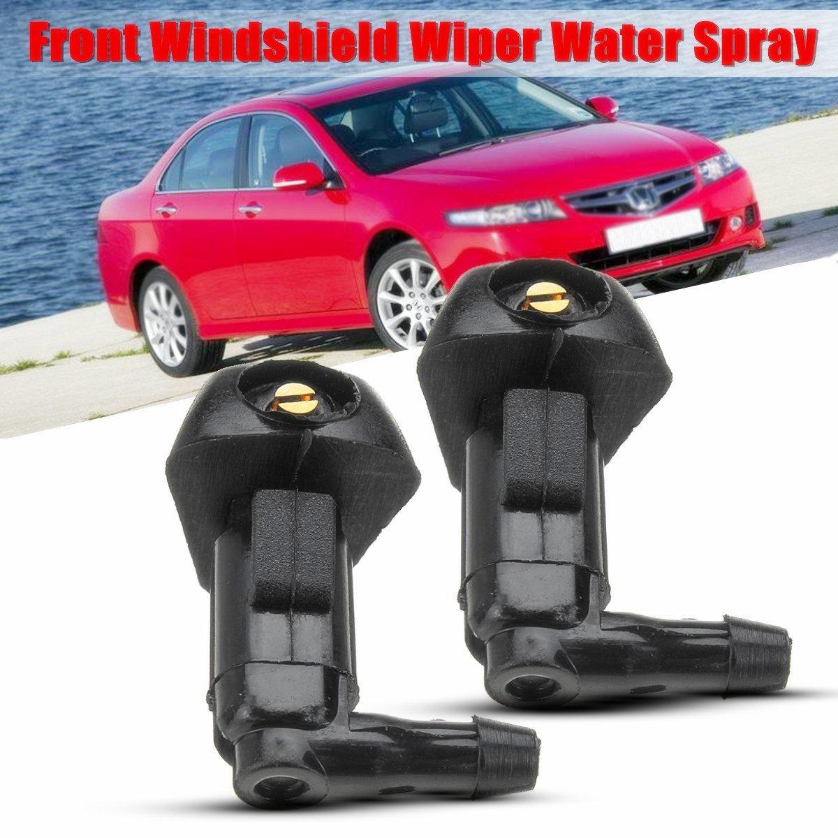 2 pçs limpador de pára-brisa do carro jato de água spray lavadora bico para honda/accord 2003 2004 2005 2006 2007