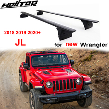 Neue Ankunft kreuz bar gepäck bar kreuz strahl dach rack für Jeep Wrangler JL 2018 2019 2020, verdicken aluminium legierung + ABS, förderung