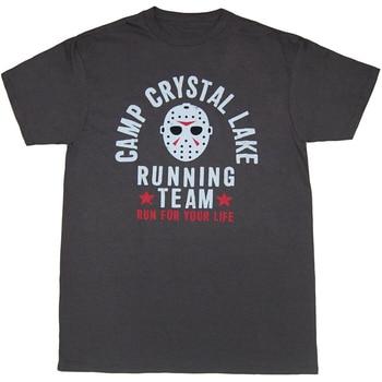 Viernes 13 campamento cristal lago correr equipo camiseta Homme personalizado camiseta