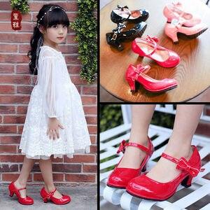 Kids' Girls' High Heel Shoes Bowknot Dress Shoes High Heel Dance Shoes