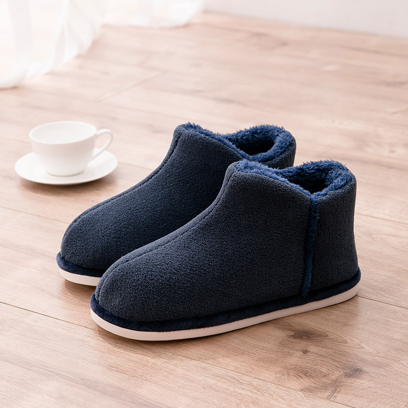 TZLDN Men Winter Warm Fur Shoes Cotton Men Slippers Lovers Home Coral Fleece Slippers Indoor Plush Size Indoor Shoes Wholesale
