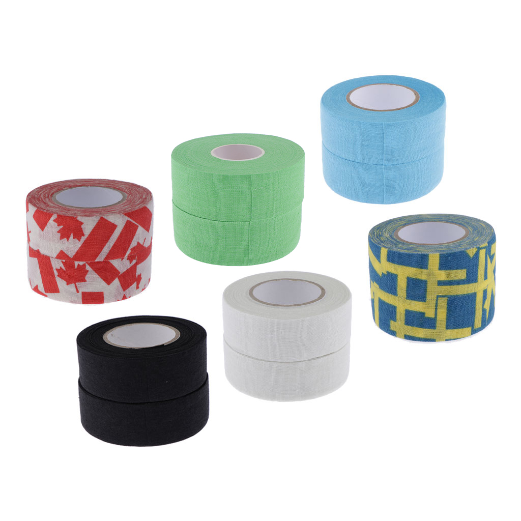 2 Rolls 2.5cmx1000cm Ice Hockey Stick Adhesive Grip Handle Tape Wearproof Skid Resistance Grip Badminton Golf Tennis Tape