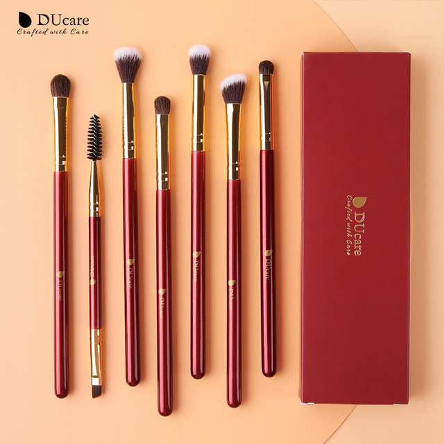DUcare Makeup Brushes 6/7PCS Eye Makeup Brush Set Eyeshadow Blending Eyebrow Brush Natural Hair Cosmetic Tools Kit Essential 4
