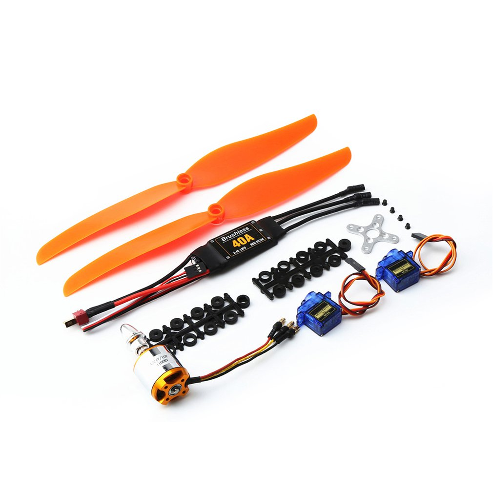 <font><b>2217</b></font> 1100KV Brushless Motor 40A ESC SG90 9G Micro Servo 1060 Propeller RC Drone Set for RC Fixed Wing Plane Helicopter image