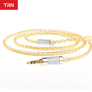 Image 2 - AK TRN 8 Core Upgrade Silver Plated Cable 3.5MMCX Earphone Upgrade Cable for SE846 YINYOO HQ8 TRN IM1/IM2/X6/V80 V90 Revonext