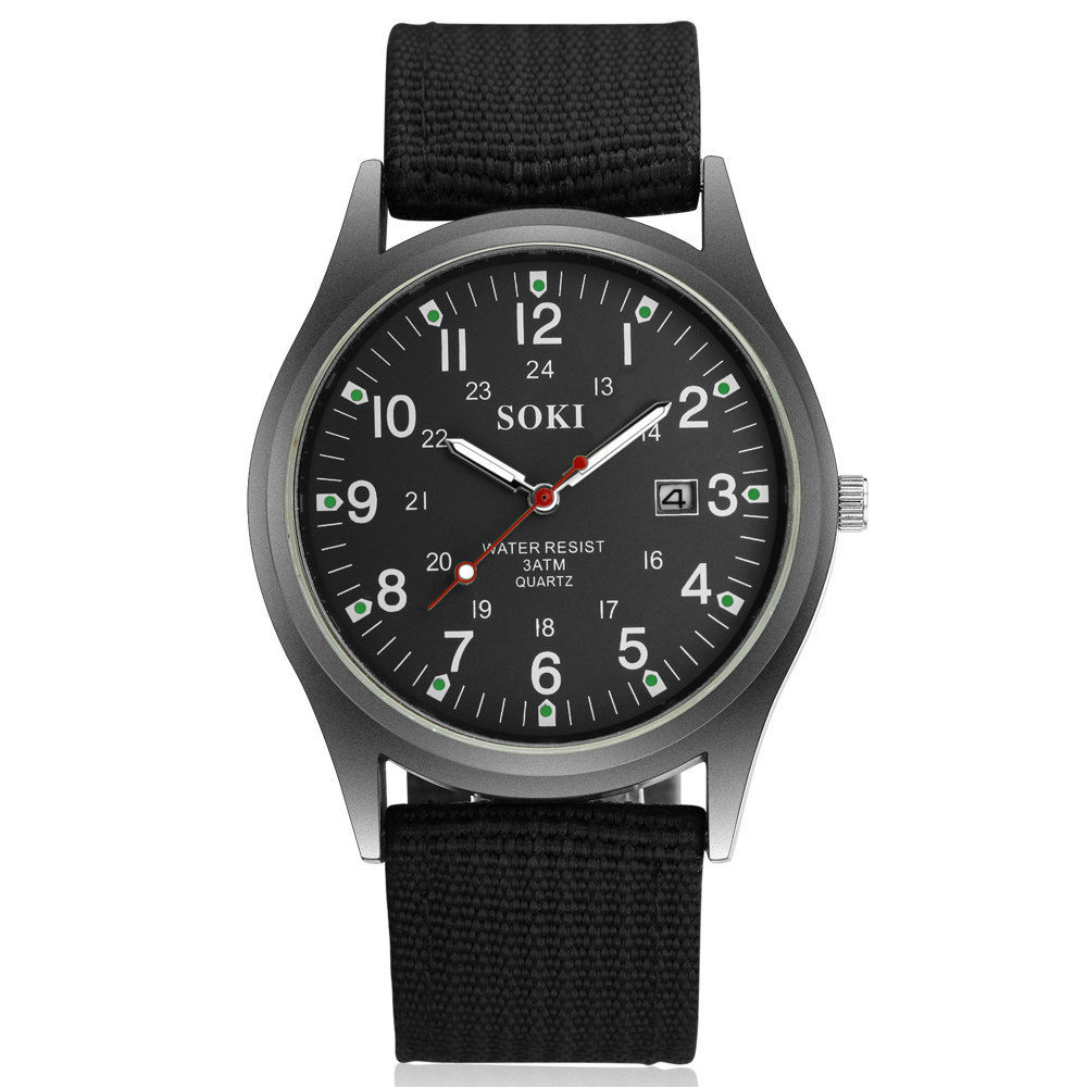 SOKI brand high-quality canvas clothing men's <font><b>watch</b></font> casual fashion gift calendar men's <font><b>watch</b></font> 2020 wild models image