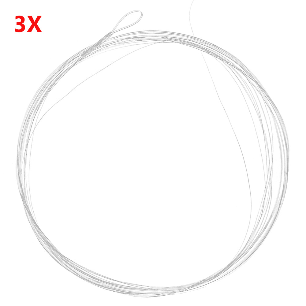 FREE TIPPET RINGS Flat Butt Leader 9ft 4X Pure Nylon in Yellow with Clear Tip