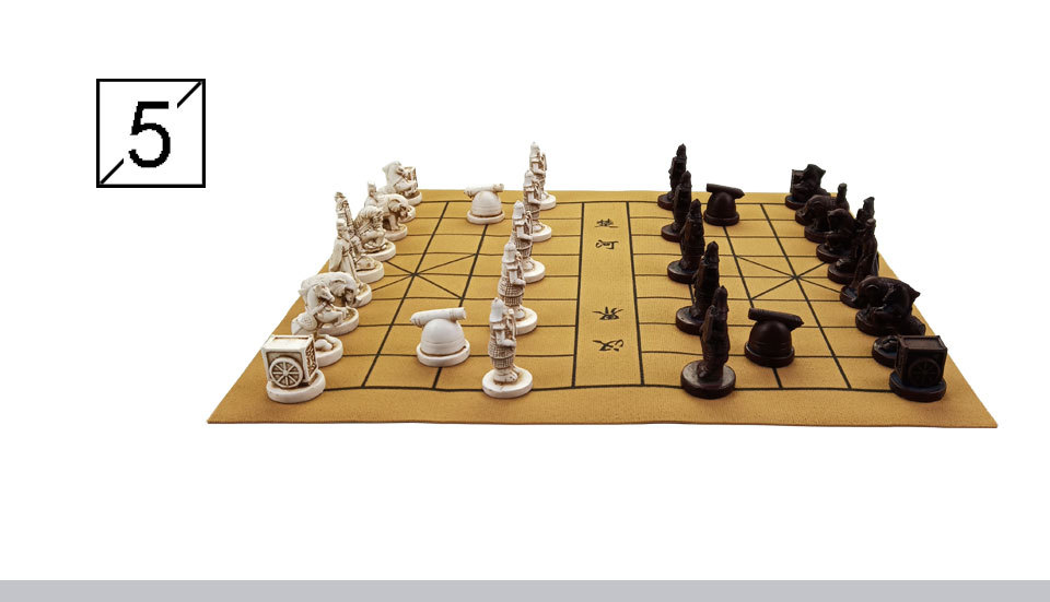 2 Yernea New Quality Traditional Chinese Chess Game Set Resin Chess Pieces Soft Chessboard Archaize Retro Chess Board Games (6)