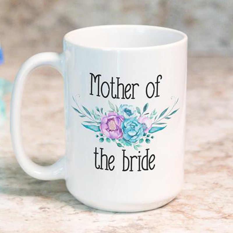 母花嫁介添人の花嫁はコーヒーマグ結婚式婚約独身編パーティーの装飾のギフト