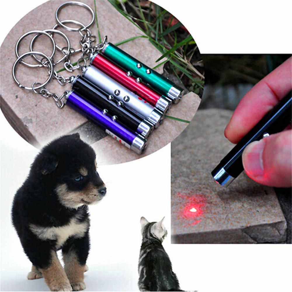 Ellenmar לחיות מחמד חתול אינטראקטיבי צעצוע חדש LED אור לייזר צעצועי לייזר עט חתולים להקניט מוטות גלוי אור Laserpointer מצחיק עבור חיות מחמד