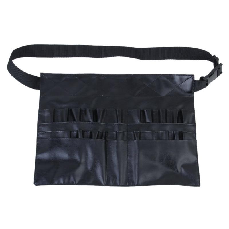 Spor ve Eğlence'ten Bisiklet Tamir Aletleri'de PVC profesyonel kozmetik makyaj fırçası önlük çantası sanatçı kemer askı tutucu title=