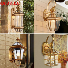 Modern Wall Lamps Light Outdoor Waterproof Contemporary  Creative New Copper Balcony Courtyard  Corridor  Villa Duplex Hotel outdoor light waterproof outdoor penadant light balcony corridor pendant lamp vintage garden courtyard pavilion wall lamps