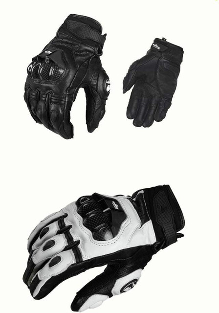 2020 New Men's Racing gloves Leather Carbon fiber Gloves Bicycle Cycling AFS 6 Motorbike Road Moto Motorcycle Gloves 5