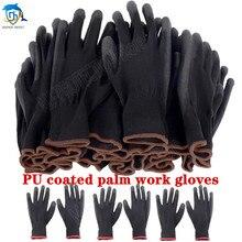 Luvas de revestimento de segurança de poliuretano luvas de proteção de trabalho de jardinagem