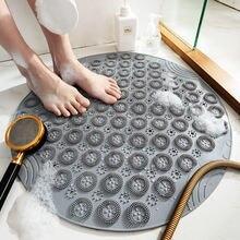 55 см нескользящий коврик для ванной круглый душа из ПВХ мягкая