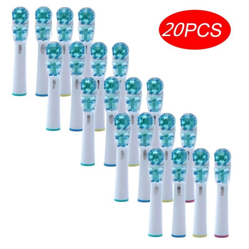 20pcs Gengiva Sensível Cuidado Cabeças Escova de Substituição Para Oral B Braun Escova De Dentes Cabeça Poder Antecedência/Saúde Pro/triumph/3D Excel