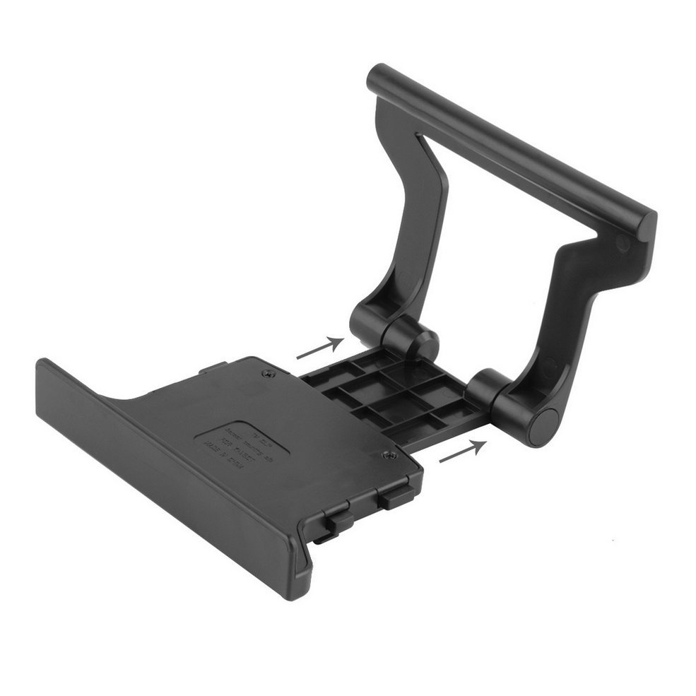 Durable Use Plastic Black Plastic TV Clip Clamp Mount Mounting Stand Holder Suitable For Microsoft Xbox 360 Kinect Sensor