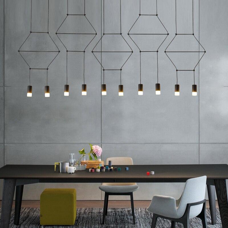 Nordic Deco Maison Rope Home Decoration E27 Light Fixture  Restaurant  LED  Pendant Lights Deco Chambre  Hanging Ceiling Lamps