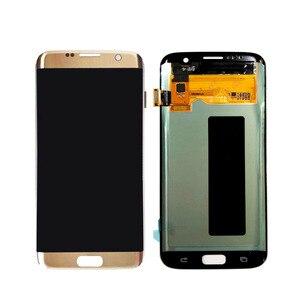 """Image 2 - 5.5 """"süper AMOLED mükemmel ekran Samsung Galaxy S7 kenar lcd ekran G935 G935F G935A çerçeve ile şasi No  yanık gölge ve kusurları"""