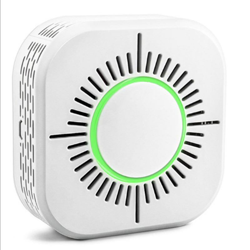 AMS-Wireless Smoke Detector Compatible With Sonoff RF Bridge For Smart Home Alarm Security 433MHz Sensitive Super-Long Standby L