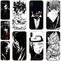Negro Blanco Anime teléfono caso para Asus Zenfone 7 Pro ZS671KS ZS670KS 6 5 5Z 4 Rog teléfono 2 3 Max Pro M1 más M2 disparó Lite L1 cubierta