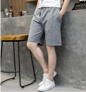 ZNG 2018 Summer    New Men's Casual Shorts Fashionable Solid Color Men's Sports Shorts Students' Simple Cotton