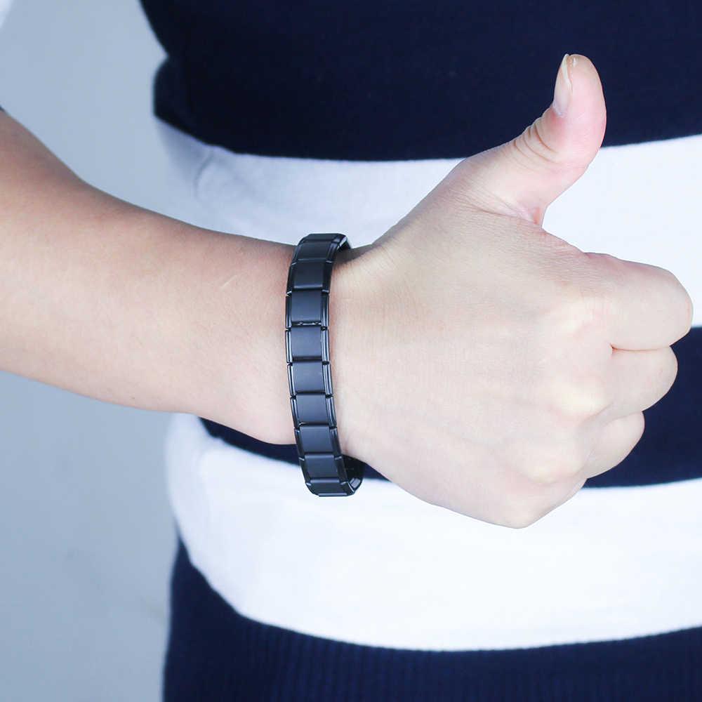 Hapiship Toermalijn Energiebalans Armband Gezondheidszorg Sieraden Voor Mannen Vrouwen Germanium Armbanden & Bangle Gem10