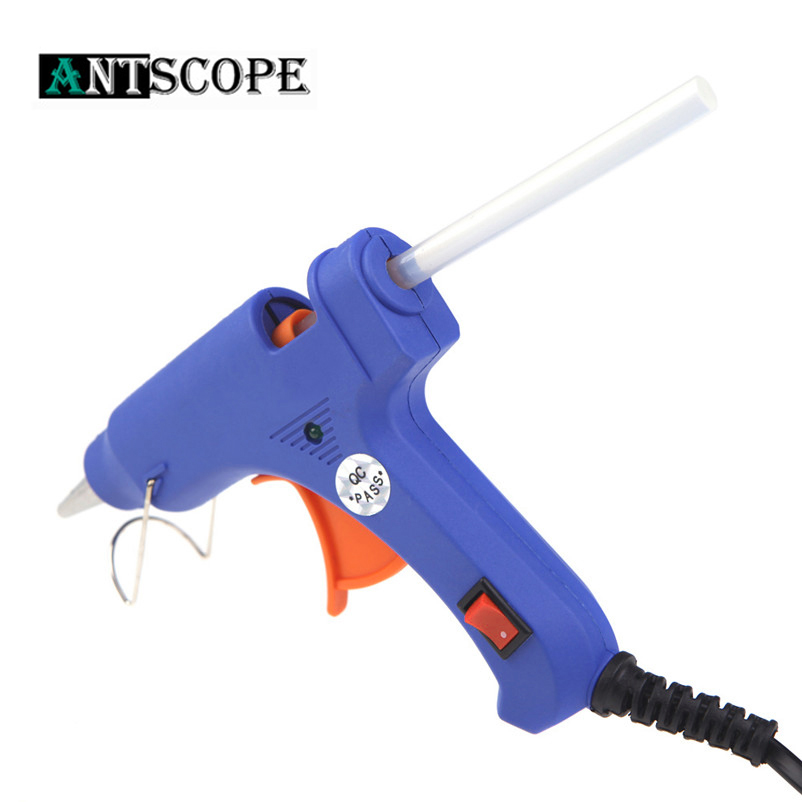 Antscope 20W EU Plug High Temp Melt Hot Glue Gun Use 7mm Glue Gun Sticks Thermo Electric Heat Temperature Industrial Repair Tool