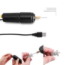 Minitaladro eléctrico de mano para perlas, resina epoxi, herramientas de artesanía de madera, 3 taladros, 5V, enchufe USB, herramienta de fabricación de joyería