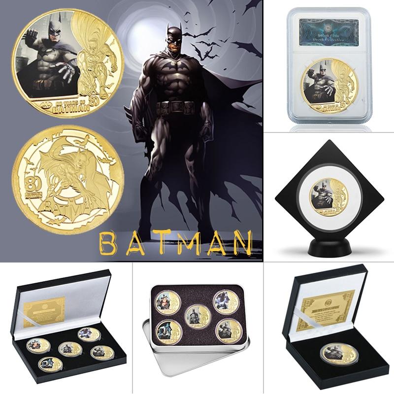 Avengers Infinitywar Superhero 5 Gold Coins /& Box Collectible Gift free shipping