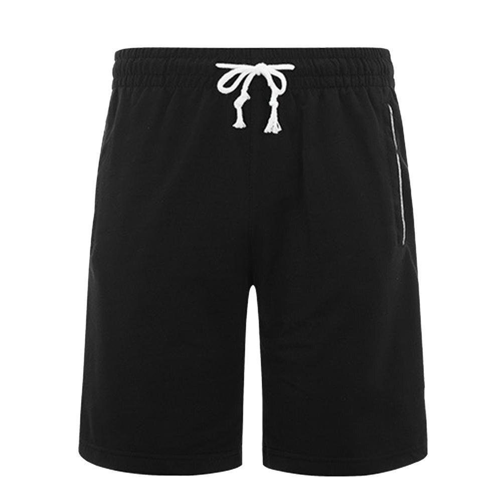 Men Summer Shorts Sports Joggings Men Plus Size Solid Color Drawstring Shorts Fitness Fifth Pants шорты мужские Bermuda Masculin