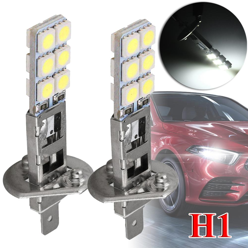 Комплект из 2 предметов новые H1 6000 К супербелый 55 Вт светодиодный автомобилей головной светильник лампы Комплект противотуманного светильн...