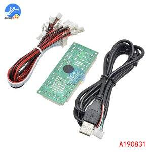 Image 5 - 2 قطعة 2x صفر تأخير ممر USB مشفر قطعة إلى جويستيك وزر ل MAME قتال عصا لوحة دائرة تحكّم