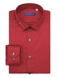 Dieses Jahr Von Leben Männliche Jahr Der Ratte Dieses Jahr Des Lebens Red Shirt Mercerisierter Baumwolle Langarm Wein red Ausschnitt Stickerei
