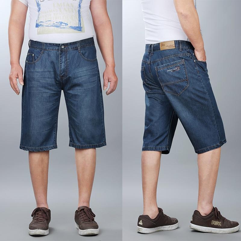 Large Size MEN'S Jeans Lard-bucket Shorts Straight-Cut Loose-Fit Lard-bucket Shorts Men's 5 Pants Casual Versatile Shorts