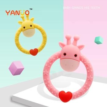 Zabawki dla niemowląt zęby śliczne żyrafa gryzak O kształt gryzak dla niemowląt gryzak dla niemowląt gryzak dla niemowląt gryzak dla niemowląt gryzak dla niemowląt gryzak dla niemowląt tanie i dobre opinie HH1158 Urodzenia ~ 24 Miesięcy 2-4 lat Zwierzęta i Natura -30-180 Celsius Silicone pink yellow O type Giraffe toys molars pacifiers