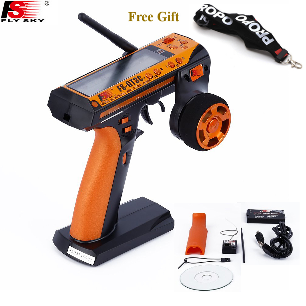 Flysky FS-GT3C GT3C Transmitter Remote Control With GR3E Receiver  For RC Car Truck Crawler Jeep Boat 4WD