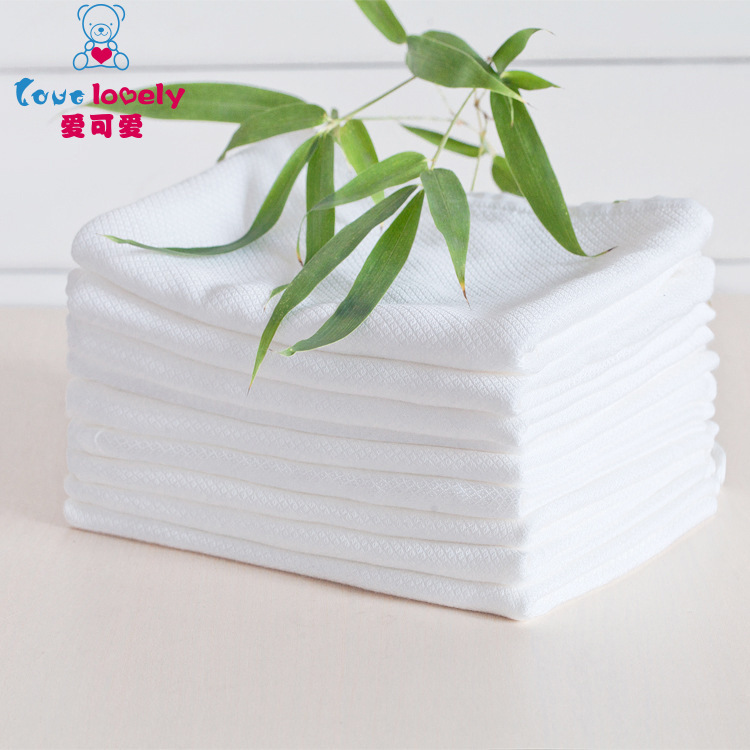 BABY'S Diaper Primary Gauze Breathable Full Bamboo Fabric Washable Pure Cotton Cloth Absorbent Urine Pad Cloth Ring Belt Buckle