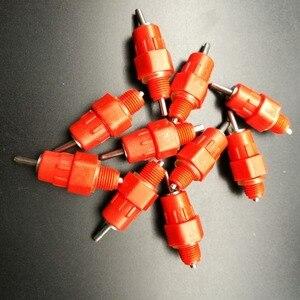 Image 5 - Bộ 100 Đỏ Núm Vú Gà Waterer Gia Cầm Ăn Gà Uống Chim Bồ Câu Ăn Mông Bóng Đỏ Núm Vú Người Uống Cho Gà