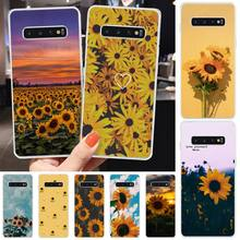 MayDaysmt sunflowers Soft black Phone Case For Samsung S6 S7 S7 edge S8 S8 Plus S9 S9 Plus S10 S10 plus S10 E(lite) maydaysmt abstract art phone case cover for samsung s6 s7 s7 edge s8 s8 plus s9 s9 plus s10 s10 plus s10 e lite