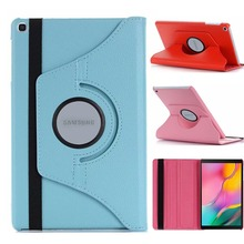 360 Rotating Case for Samsung Galaxy Tab A 10 1 2019 T510 T515 Stand PU Leather Cover for SM-T510 SM-T515 10 1 inch Cover cheap HERVI Protective Shell Skin 10 1 LZW360-T510 Solid 10 1inchinch Fashion Waterproof Shockproof Drop resistance Anti-Dust
