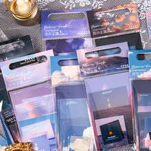 Yoofun 8designs Memo Pads Pack Wolken Sunset Galaxy Lose Blatt Notes Wall Notizen Kugel Journaling Scrapbooking Zu Tun Liste