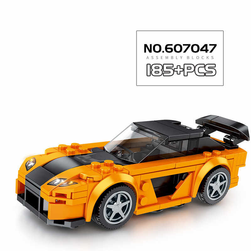 City Super Racers Car Building Blocks Garage Speed Champions Sports Race Track Racing Car Bricks Kids Toys for children