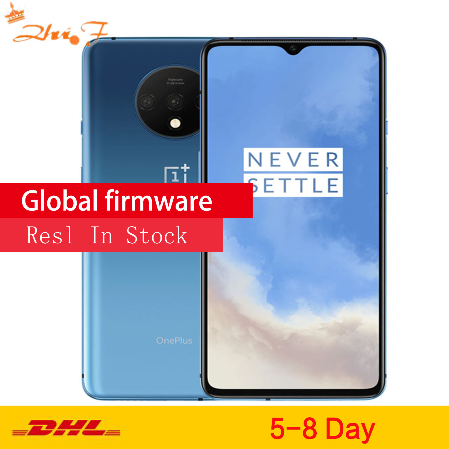 Original Global ROM OnePlus 7T 8GB 256GB Smartphone Snapdragon 855 Plus Octa Core 90Hz AMOLED Screen 48MP Triple Cameras  NFC