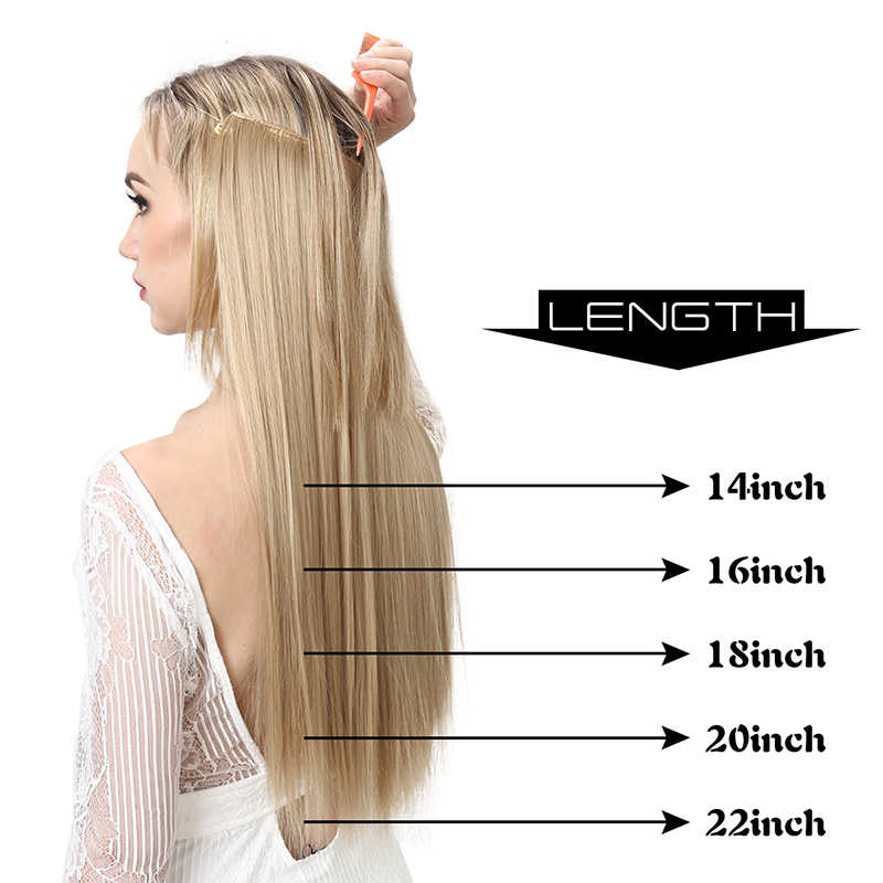 SARLA هالو الشعر التمديد لا كليب غير مرئية سلك الاصطناعية أومبير الطبيعية وهمية طويلة مستقيم شعر مستعار كاذبة هيربيسي للنساء