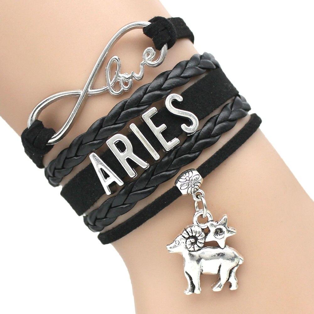 Zodiac Signs Capricorn Aquarius Pisces Aries Taurus Gemini Cancer Leo Virgo Libra Scorpio Sagittarius Mens Girls Women Bracelet