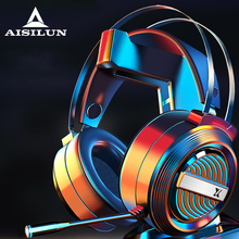 Gamer Headphone Gaming-Headsets Xbox Over-Head Wired Volume-Control Laptop Stereo